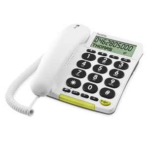 DORO Telephone PhoneEasy 312C Corded wh - qty 1 (5639)