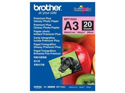 BROTHER Fotopapper BROTHER BP71 A3 260g 20/fp (888701)