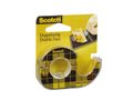 SCOTCH Dobbeltklæbende tape SCOTCH 12mmx6,3m