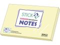 Notes Stick'n Notes 76x127mm gul / GENERIC BRANDS (3700130*12)