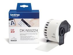 BROTHER Label DKN55224 DK-tape roll paper without glue, black on white, 54mm x 30,48m (DK-N55224)