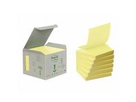 Z-Notes Post-it Gul 76x76mm 100% genbrug Tårn m/6 blokke