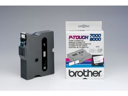 BROTHER 18MM P-TOUCH TAPE BLACK ON WHITE (TX-241)