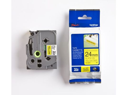P-Touch Tape TZe-S651 24mm svart/gul