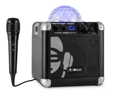 iDance Sing Cube karaoke system with built-in lightshow black
