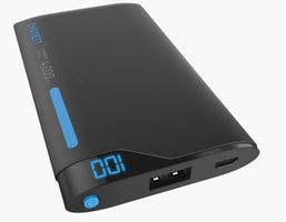 ChargeUp Lithium Polymer Powerbank Digital 4000mAh Blue/Grey