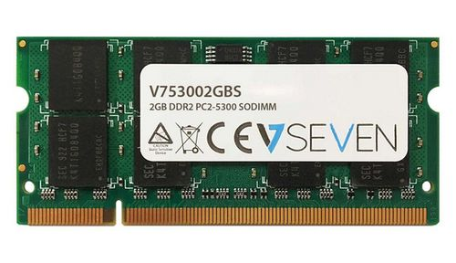VIDEO SEVEN 2GB DDR2 667MHZ CL5 SO DIMM PC2-5300 MEM (V753002GBS)
