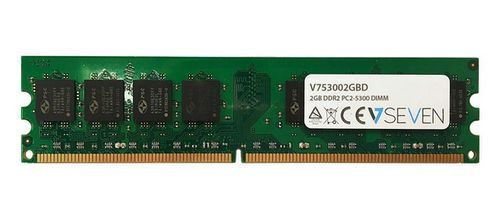 VIDEO SEVEN 2GB DDR2 667MHZ CL5 DIMM PC2-5300 MEM (V753002GBD)