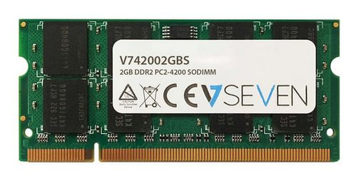 VIDEO SEVEN 2GB DDR2 533MHZ CL5 SO DIMM PC2-4200 MEM (V742002GBS)
