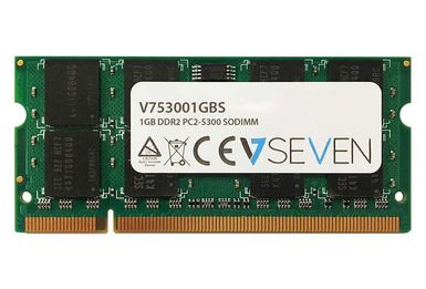 VIDEO SEVEN 1GB DDR2 667MHZ CL5 SO DIMM PC2-5300 MEM (V753001GBS)
