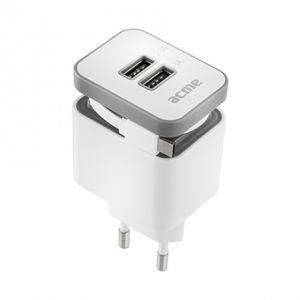 ACME MADE CH17 Powerful 2-fold USB Charger with rolling Cable (140564)