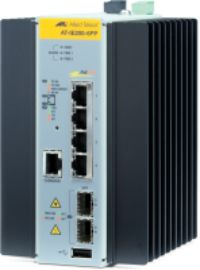 ALLIED TELESYN Managed Industrial switch with 2 x 100/1000 SFP,  4 x 10/100TX PoE+, no Wifi (AT-IE200-6FP-80)