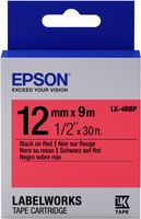 Label/ LK-4RBP Pastel 12mm x 9m BK/RD