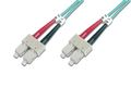 DIGITUS - Patchkabel - SC multimodus (han) - SC multimodus (han) - 3 m - fiberoptik - 50 / 125 my - OM3 - halo...