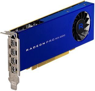 AMD RADEON PRO WX 4100 4GB PCIE 3.0 16X 4X M-DP LP RETAIL   IN CTLR (100-506008)