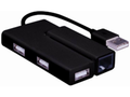MICROCONNECT USB2.0 to Ethernet+3hub,  Black