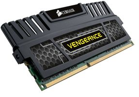 Vengeance™ DDR3 1600MHz 8GB CL9 Kit w/2x 4GB XMS3 modules, CL9-9-9-24,  1.5V, Vengeance Heatspreader,  240 pin
