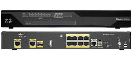 CISCO 892F 2PORT GBE/SFP HIGH PERFORMANCE SECURITY ROUTER (C892FSP-K9)