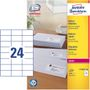 AVERY Small Addressing Labels Small Envelopes ,Laser 70x37mm 24 Labels/ Sheets **100-pack**
