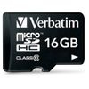 VERBATIM Micro SDHC Card 16GB Class 10 with Adaptor (44082)