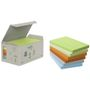 POST-IT Notes Post-it 655 76x127mm 6 farver 100% genbrug Tårn med 6 blokke