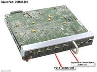 HP BD, EMBEDDED, SWITCH, 6 PORT (218681-001)