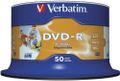 VERBATIM DVD-R 16x 4,7GB printable spindle BULK (