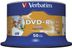 VERBATIM DVD-R Media 16X 4.7GB Advanced AZO Wide Inkjet Printable 50 Pack Spindle