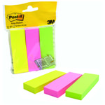 Indexfaner Post-It 671/3 papir 25x76mm 3x100stk.