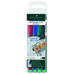 Multimarker Faber-Castell SF 0,4mm Etui/4 ass