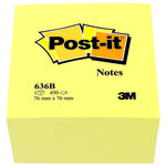 Kubus Post-it 636B Gul 76x76mm