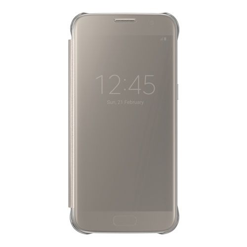 SAMSUNG Galaxy S7 Clear View Cover Gold (EF-ZG930CFEGWW)