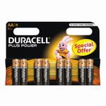 DURACELL Batteri Duracell MN 1500 1,5v LR6/AA Plus Power Pk/8