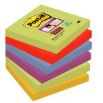 POST-IT Notes Super Sticky 654 Marrakesh 76x76mm Pk/6