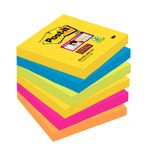 POST-IT Notes Super Sticky 654 Rio 76x76mm Pk/6