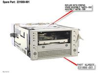 HP DRV,TAPE DLT,W/FAN (231669-001)