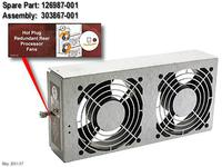 HP FAN, PROCESSOR, HTPLG (126987-001)