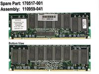 HP MEM 512MB SDRAM, 256MB, CL3 (170517-001)