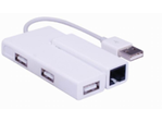MICROCONNECT USB2.0 to Ethernet+3hub,  white