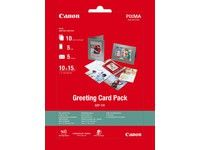 CANON Greeting Card Pack 10x15 5x Greeting Cards 5x white envelopes Glossy Photo Papier (GP-501) 10 sheet