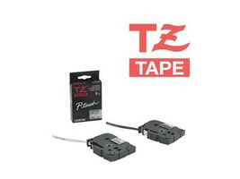 BROTHER 12MM White On Black Tape (TZE335)