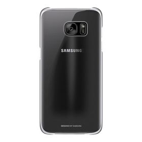 Galaxy S7+ Clear Cover Black