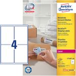 AVERY Laser etiket Block out 99, 1x139, 0mm 4 stk 100 ark