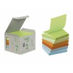POST-IT Z-Notes 4 farver 76x76mm 100% genbrug Tårn m. 6 blokke