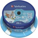VERBATIM CD-R700MB 52X 25 SPINDLE PRINT (43439)