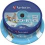 VERBATIM CD-R AZO, 52X Printable 25 stk. spindel