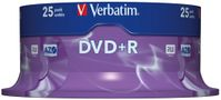 VERBATIM DVD+R Verbatim 4.7Gb 16x spindle (25) (43500)