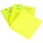 QConnect Notes Neon Gul 76x76mm 6 stk