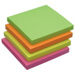 Notes Q-Connect Rainbow Neon 76x76mm Pk/12