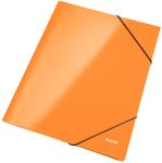 Elastikmappe Leitz WOW A4 m/3 klapper Orange metallic
